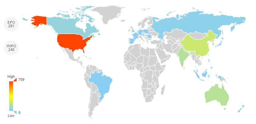 Figure 4 Patent coverage (publication country coverage)